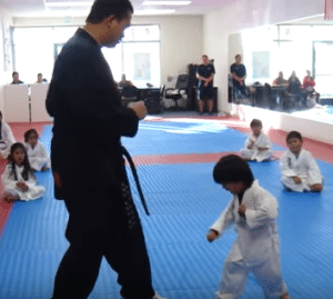 3 year old gets white belt
