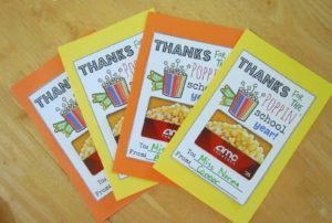 Teacher gift: Movie Theatre Gift Cards