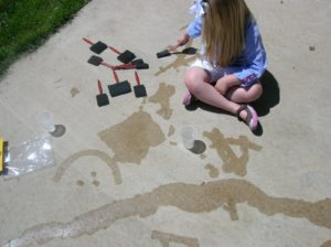 painting the sidewalk water game activity