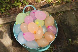Bucket of water balloons