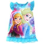 Frozen Elsa Anna Girls Blue Poly Nightgown Pajamas